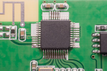 Wall Mural - close up Electronic component on printed circuit board,