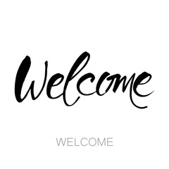 welcome lettering template