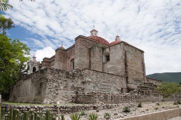 Ancient church of Mitla Oaxaca Mexico