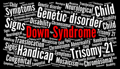 Down syndrome word cloud