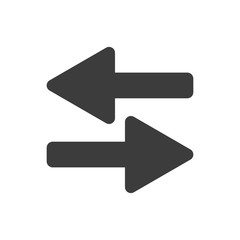 Simple opposite direction arrows vector design