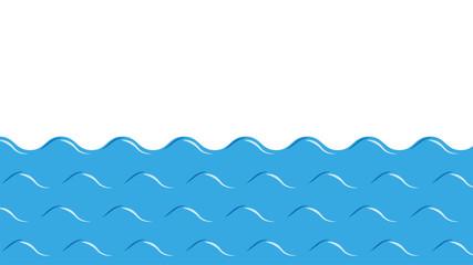 Sea waves flat vector design