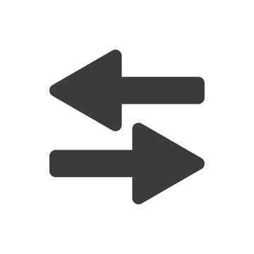 Simple opposite direction arrows vector design