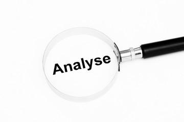 Analyse mit einer Lupe