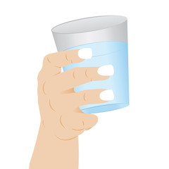 1404562 A glass of clean water in a hand