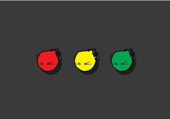 red green yellow