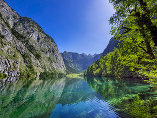 Obersee Lake in the Berchtesgaden National Park, Bavaria