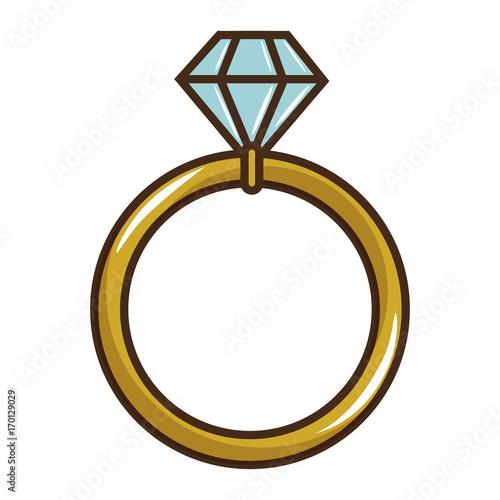 """wedding Diamond Ring Icon Vector Illustration Graphic"