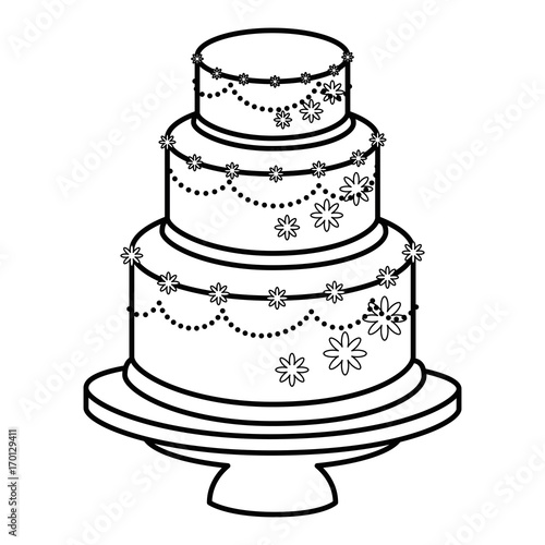 wedding cake icon vector quot wedding cake married icon vector illustration graphic 22892