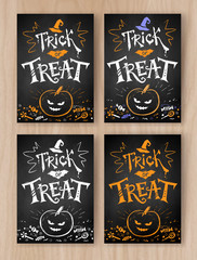 Trick or Treat Halloween postcards