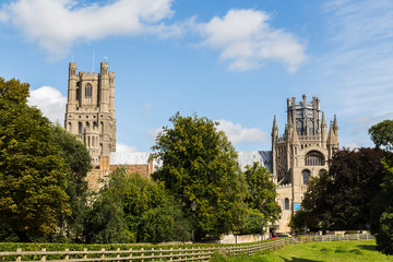 South facing facade of Ely Cathedral