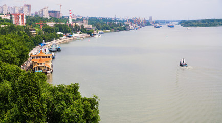 Russia. View of the city of Rostov on Don - the largest city on the Don River in the south of the Russian Federation on a summer day.
