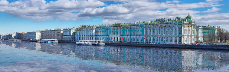 Panorama of the Winter Palace in St. Petersburg