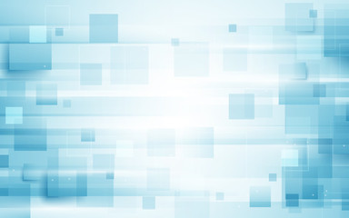 Wall Mural - Abstract repeating rectangle shape on blue and white background