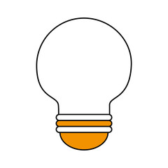Light bulb icon Energy power and technology theme Isolated design Vector illustration