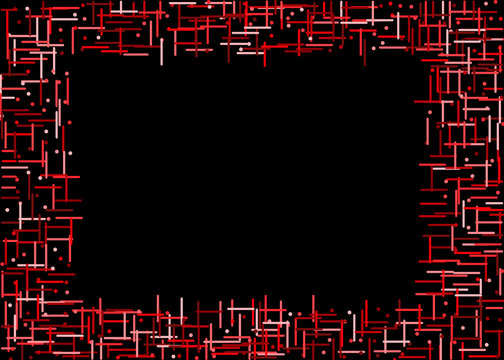 Generative dot line abstract frame background