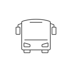 Bus outline icon
