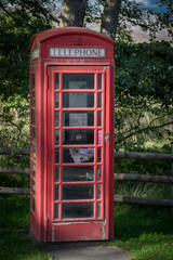 Garden Poster London red phone booth