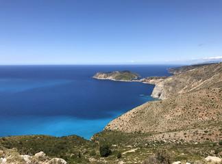 The peninsula of Assos in Cephalonia or Kefalonia, Greece.