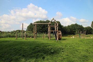 Playground devices in Hitland, The Netherlands