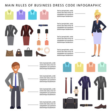 Business dress code infographic
