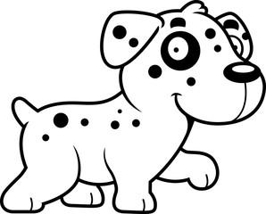 Cartoon Dalmatian Walking