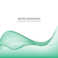 Green abstract waves background