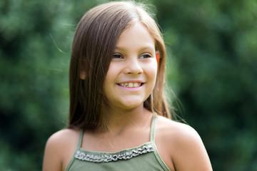 Beautiful female child portrait