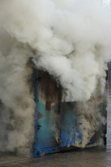 factory fire, explosion