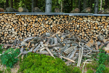 Brennholz Holz Winter Vorrat