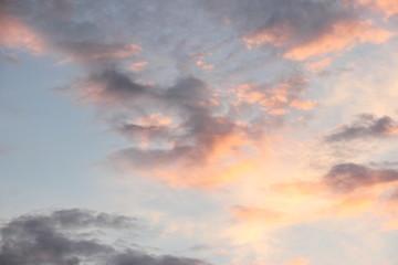 Evening clouds
