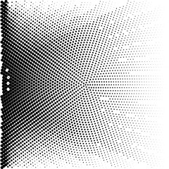 Abstract dotted background. Halftone effect. Vector texture. Modern background.Monochrome geometrical pattern. Strips of points. Black dots on white background.