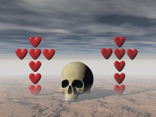 love and death - 3d rendering