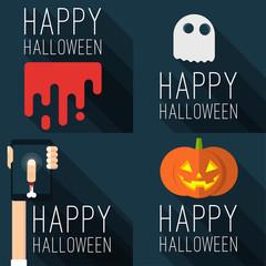 Halloween party vector templates.