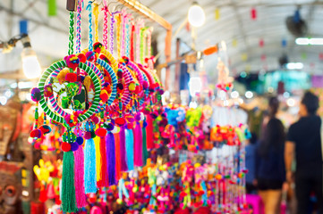 Thai night market goods