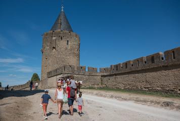 Balade à la cité de Carcassonne