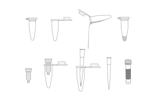 1.5 mL Test tubes and pipette tips
