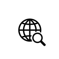 network global searching symbol black