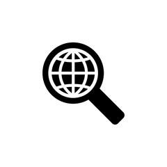 global search symbol black icon