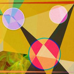 Modern futuristic Vivid Geometric abstract  illustration