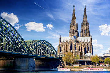 Printed roller blinds Historical buildings Cologne Cathedral