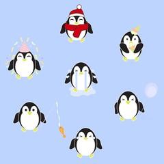Penguin Clipart Set