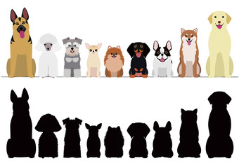 smiling dogs border set