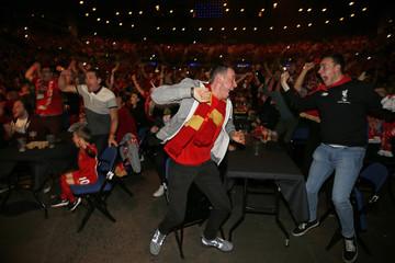 Liverpool Fans watch the UEFA Europa League Final