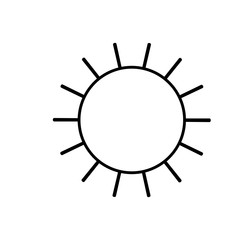 sun icon in monochrome silhouette