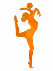 illustration of a modern gymnast, vector draw