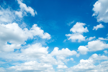Natural blue sky background with clouds