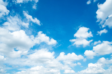 Natural blue sky with white clouds
