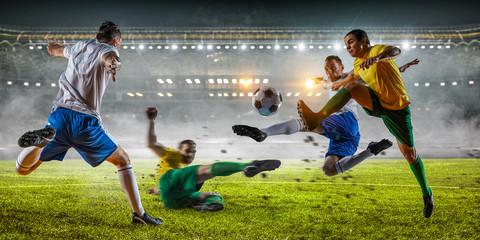 Soccer best moments. Mixed media