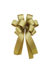 Christmas ribbon decoration isolated on white background